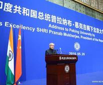 Indian president delivers speech at Peking University
