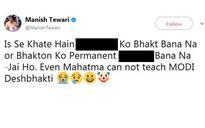 Even Mahatma can't teach Modi desh bhakti: Congress' Tewari in abusive tweet