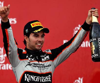 Perez creates F1 history for Force India in Baku