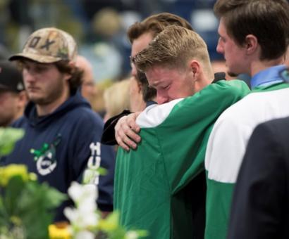 PIX: Trudeau attends emotional vigil for Canada bus crash victims