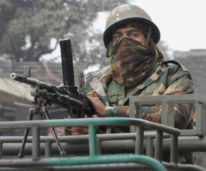 open fire on security personnel near Awantipora Air Force Station