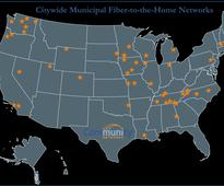 Map of Citywide Municipal Fiber-to-the-Home Networks