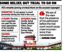 Supreme Court refuses to quash trial in National Herald case
