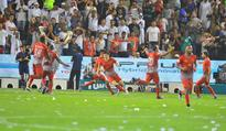 Lekhwiya are Emir Cup champions Lekhwiya's Nam Tae-hee celebrates his team's second goal against...