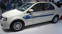 Mahindra Verito Electric exhibited at the 2016 Auto Expo