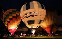 Bristol skies lit up by hot air balloons at annual fiesta
