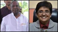 Puducherry CM condemns 'Hitler' poster of Kiran Bedi; says L-G office is sacrosant