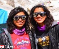 21-year-old Indian sisters become first twin to climb Mount Everest