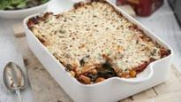 Spinach, Mediterranean veg, chickpea and smoked paprike lasagne