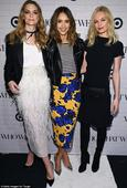 Jessica Alba leads the way as fellow beauties Jaime King and Kate Bosworth join her at Target launch