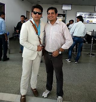 Spotted: Shekhar Suman at Lucknow airport