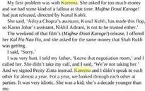 I offered her Kal Ho Naa Ho, she asked for same money as SRK - Karan Johar on tiff with Kareena Kapoor