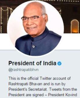 President Kovind rakes in 3.27 million Twitter followers on day 1
