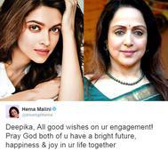 Whaaat! Hema Malini congratulates Deepika on her ENGAGEMENT!
