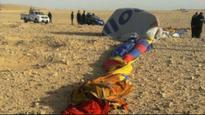 Egypt: Hot air balloon crash kills 1 tourist, injures 12