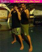 Khiladi Akshay Kumar and son Aarav are all set to kick some ass  view pic!