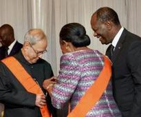 President Pranab Mukherjee accorded honorary citizenship of Abidjan