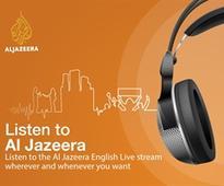 Al Jazeera's audio app provides access to a live audio stream