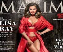 Hotness Alert: Lisa Ray turns lingerie model for Maxim