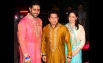 Spotted: Sachin Tendulkar, Shatrughan Sinha at Amitabh Bachchan's Diwali party