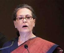 Sonia calls suspension of Congress MPs 'a black day for democracy'