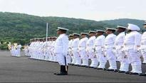 Sri Lankan Navy Chief reviews INA Passing out Parade