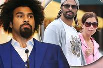 David Haye pictured with mystery blonde after splitting from wife Natasha