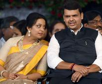 Trouble for Devendra Fadnavis's wife: Accepting 'miracle chain' by godman lands her in row