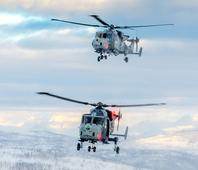 UK Royal Navy tests Wildcat multi role helicopters in Norway
