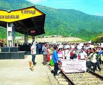 Trains stranded after blockade