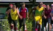 James Corden races Usain Bolt in 100m sprint - but who wins?