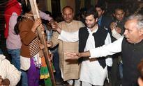 Let BJP drive bulldozer over my body, says Rahul Gandhi