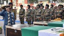 Jammu and Kashmir: Army bids farewell to soldiers slain in cross-border firing