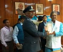 Air Marshal Chandrashekharan Harikumar Air Officer Commanding-in-Chief Western Air Command Called on Chief Minister of Uttarakhand