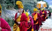 Shoton festival marked in Tibet monastery
