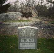 Gravestone made for Donald Trump in New York