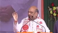 Assam Polls: BJP President Amit Shah Hits Out at Sonia Gandhi
