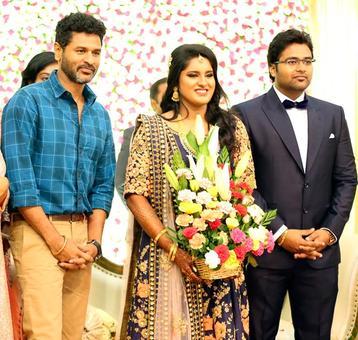 PIX: Prabhudheva, Kamal Haasan attend K S Ravikumar's daughter's wedding reception