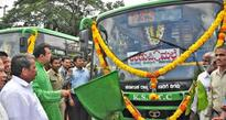Madhwaraj flags off services of low-floor city buses in Udupi