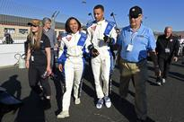 Mario Andretti took Ayesha and Steph Curry for a 100-mph IndyCar ride