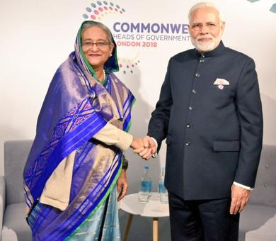 PM Modi holds bilateral talks with Hasina, others on CHOGM sidelines