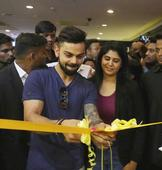 Virat Kohli & Anjana Reddy during the inauguration of the flagship store