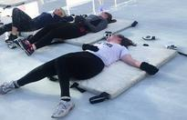 I tried a trendy ice rink workout, and I was a total disaster