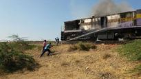 Ahmedabad-Botad train locomotive catches fire near Dhandhuka