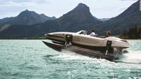 Superyachts and fold-up speedboats