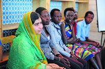 Crying Burundi girls shock Malala as they recall rape fleeing war