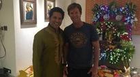 Jonty Rhodes visits Sachin Tendulkar on Ganesh Chaturthi
