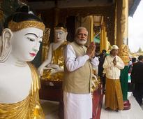 Modi visits Shwedagon pagoda in Myanmar