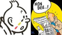 Cartoons of a crying Tintin pay tribute to Brussels