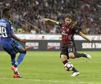 AC Milan 4-3 Sassuolo: Hosts score three times in nine minutes to rescue the points in a frantic second half
